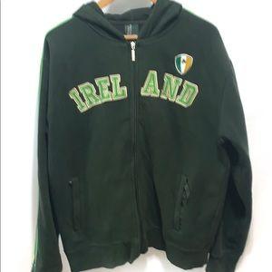 Other - Ireland embroidered zip up hoodie | jacket XXL